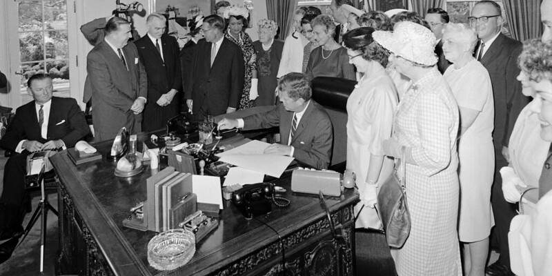 President Kennedy signs the Equal Pay Act