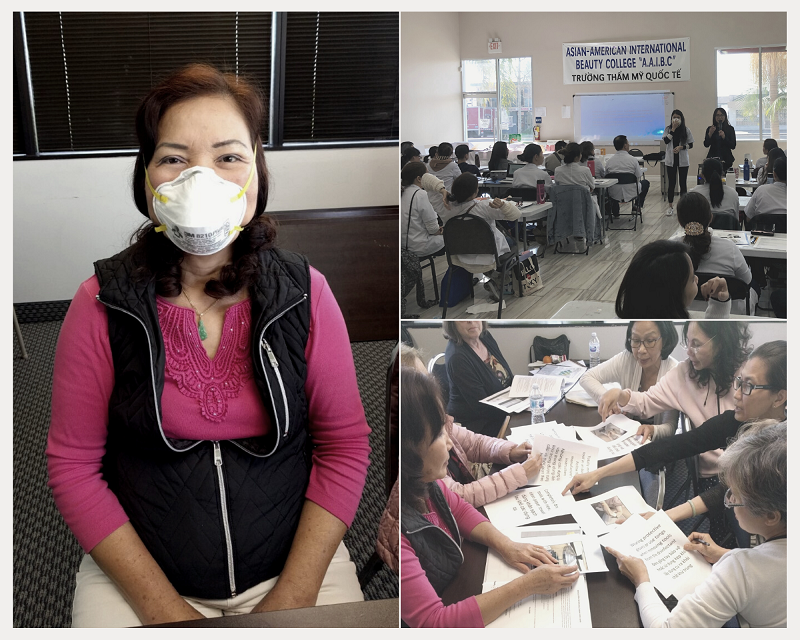 Collage of photos from trainings conducted by BPSOS-CCA